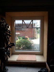 Fenster mit innenliegenden Sprossen